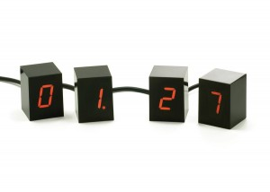Red Led Cube clock